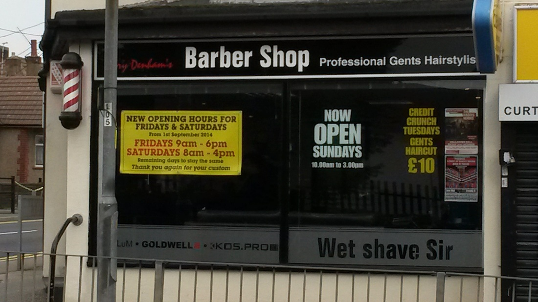 Barber Shop Hours : ... is a well established barber and runs gary denham s barber shop in